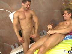Twink gets his lustful anal canal thrashed by hunk