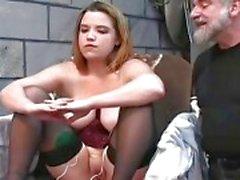 Chubby female got punished