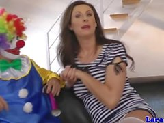 Glamcore mature euro skank rammed rough by clown