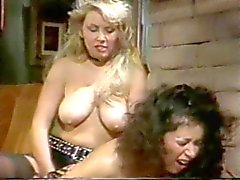Linda Shaw and Maria Tortuga fuck with a Strap On