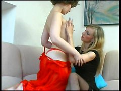 Amateur british lesbians in stockings lick each other