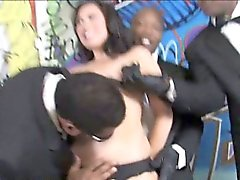 Ashley Blue deepthroats and fucked by massive black cock