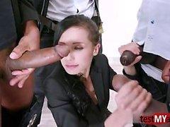 Hot pornstar dp and facial