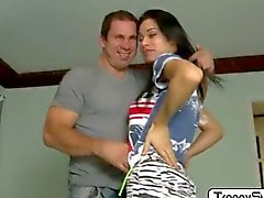 TS Nicoly bends over for an anal annihilation