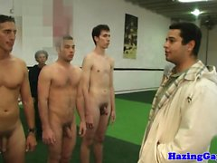 Athletic straighty buttfucked in locker room