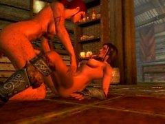 futa Skyrim 0Sex - Kaena et Lydia attendant la casserole pour cuisiner