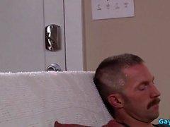 Muscle baba üçlü ve cumshot