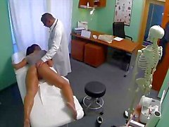Hot patient fingered before sucking on doctors dick