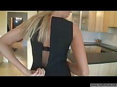 jovens esposa Blonde alemão de saltos altos fodida