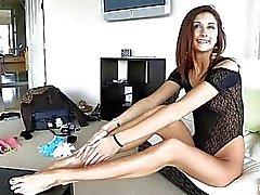 Jody Anal FINGRANDE vackra och mycket långbent Teen