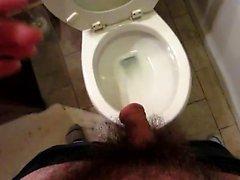 Long Pee in Bathroom