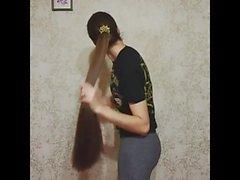 Morena de cabelos compridos, cabelos longos, cabelo