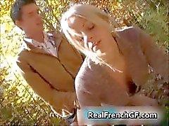 Jugendlich französisch Sexbombe Wald verdammte fun