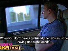 Female Fake Taxi Businessman strikes sexual deal