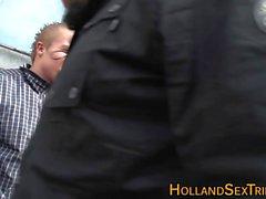 Néerlandais face à Hooker spunked