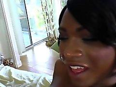 Ebony transexual rams ho