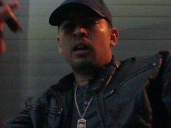 Rauchen Macanudo Maduro Zigarre In Leder Jacke Hat Regnerische Las Vegas Nacht