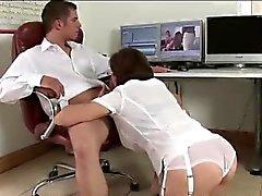 Lady Sonia gives handjob and blowjob