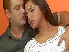 Trans forte poitrine sexy de Drikinha de Lima analed
