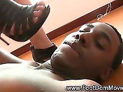 Interracial babe feet worshipped