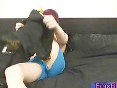 Cute redhead gay emo wannking 3 by EmoBF part5