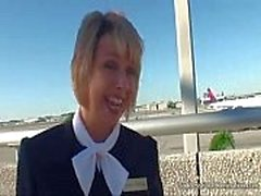Stewardess Flugfußjob