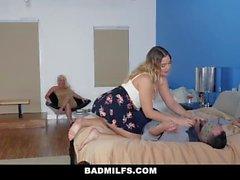 BadMILFS - грудастая степма и дочь