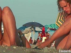 Nudist Lesben Paar Strand Voyeur Spion Cam HD Video