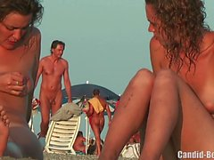 Nudist Lesbiska Par Beach Voyeur Spy Cam HD Video