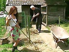 Yaptığı ufacık hizmetkar kahrolası ihtiyar çiftçi