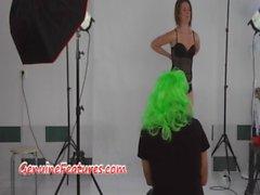 Ejaculations dans backstage des sexy poussin czech