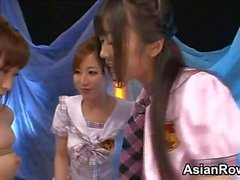 Bound Asian Girl In A Lesbian Threesome