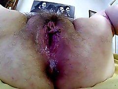apertura coño peludo