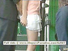 Miho Maeshima chinesisches Mädchen bekommt ein Sperma Belastung ihre Brille