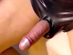 Webcam masturbation in latex