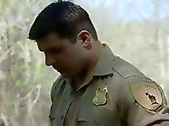 Musceld Gay Cop Fucks Outside - nial