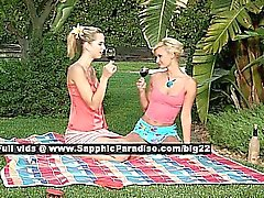 Aneta and Jenny lovely lesbo girls undressing