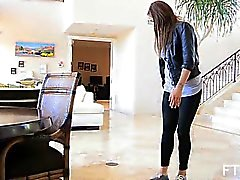 First time heels masturbating in casting shoot