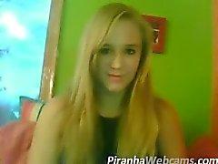 webcam masturbatie - super hete tiener blondie