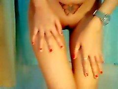 Азии девушка пальцами ее неприятный бобер