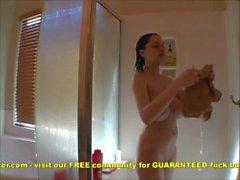 Teen busty ragazza in con doccia Saponatura Sborre ad fuori tette enormi