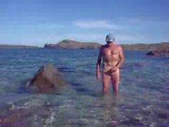 Skinny Daldırma sahil bana karşısında cum eğer çıplak olacak
