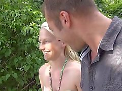 German Girl fucked outdoors