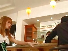Sexy Redhead Faye Regan celebrates St Patricks Day by fucking the bartender