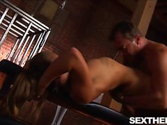 Big Tits Brunette Bangs Her Slave