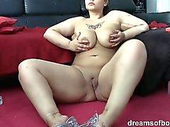 Deutsch BBW Samantha Smokin sexy