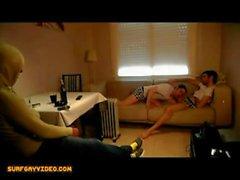 Cam beobachtete seine roomates Fick