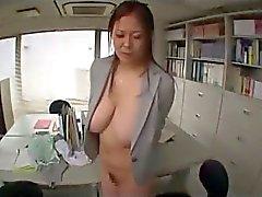 Fat sekreteraren Getting handcuffed webbkamera gnids och torteras När klipp av 2 grabbar på kontoret