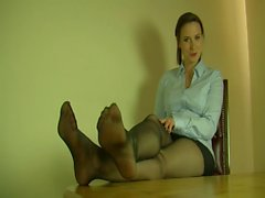 Polish girl in black pantyhose (polska wersja)