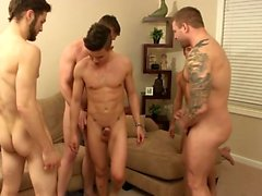 Muscle twink oral sex and facial